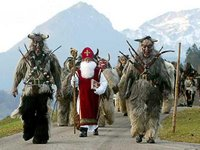 Krampusse, Buttenmandl and St Nicholas